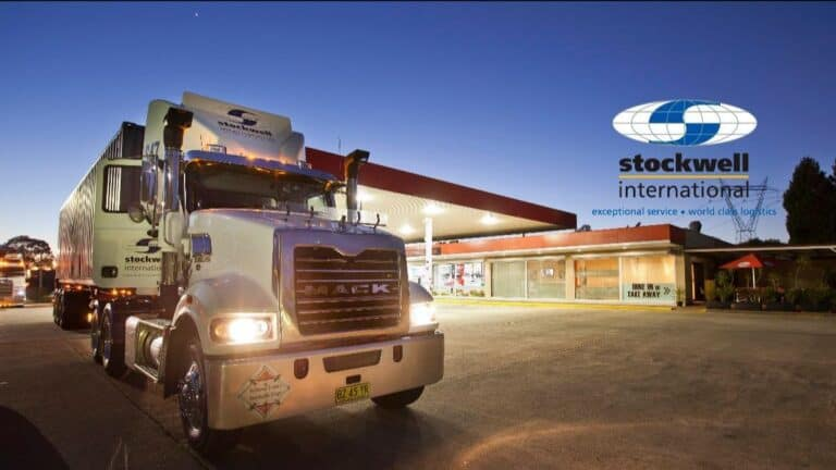 image of stockwell truck at night